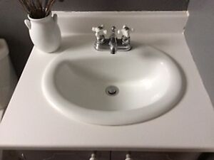 Bathroom sink and matching faucet