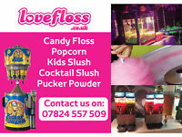BIRTHDAYS, CHRISTENINGS, SCHOOL FORMALS, PTA, WEDDINGS, CANDY FLOSS, CANDYFLOSS, SLUSH, POPCORN