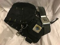 Bowstone pocketed weight belt with 6Kg of loose shot - worn condition