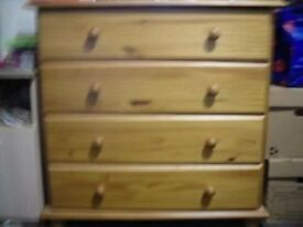 Lovely Pine Effect Chest of Drawers Collection Only