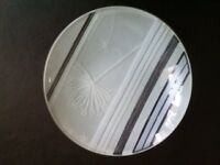 Signed Portmeirion circular glass dishes x 4