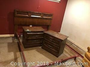 Bed Frame And Night Stands C