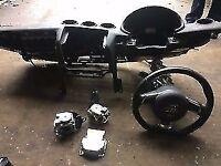 audi tt mk2 sline full air bag kit for sale flat bottom steering wheel etc call parts