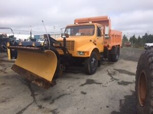 International DT466 with plow and dump spreader St. John's Newfoundland image 3