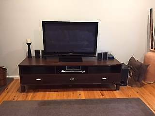 Plasma TV + Home Theatre System + TV Unit