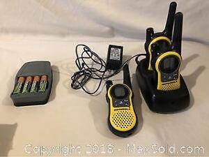 Walkie Talkies And Duracell Charger With Batteries