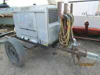 Red D Arc D300K Welder C/W Cables and Trailer