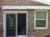 Awning (Green and White Stripes) 10' W x 8' L