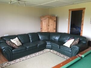 Big leather sectional