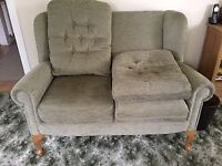 HSL Hampton legged two seater sofa with removable cushions and covers