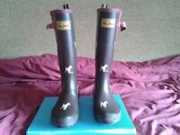 ladies calf length boots