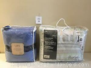 New King Size 3 Piece Quilt Set & Life Comforts Queen Size Microfibre Blanket