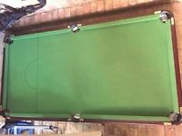 snooker table 6ft x 3ft