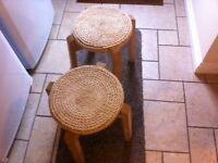 Rope seat stools
