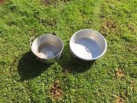 2 x large preserving pans