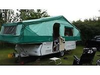 Pennine folding camper. 6 berth, Bathroom, 2 double bedrooms, full oven, Hot and cold running wate