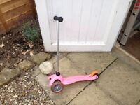 Girls' Scooter. Light Pink Mini Micro.