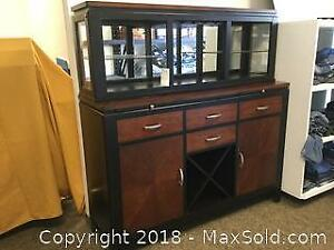 Elegant Buffet with Hutch and Sideboard