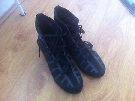 Adidas Adizero Boxing Boots-Size 7 UK Black and Grey colour £30