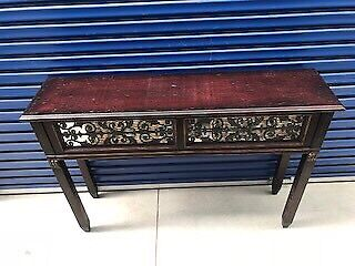 Stunning Antique Wrought Iron Hall Console Table