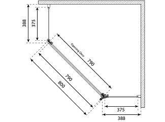Vetro Corner Semi-Frameless shower screen