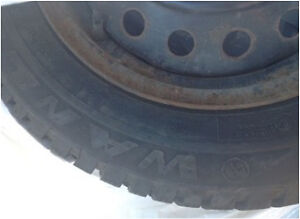"4 - 14"" winter tires on rims  Kitchener / Waterloo Kitchener Area image 4"