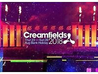 Creamfields 4 day Silver Camping Ticket
