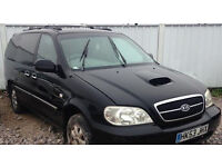 KIA SEDONA 7 SEATER DIESEL MPV WITH AUGUST MOT 133000 MILES, RECENT CAMBELT CHANGE