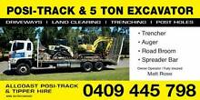 Allcoast Posi-Track / Bobcat & Excavator Hire - Wet Hire - Combo Burpengary Caboolture Area Preview