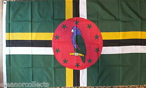 Dominica-Flag-5x3-Roseau-Dominique-Caribbean-Antilles-Holidays-Tourism-Sports