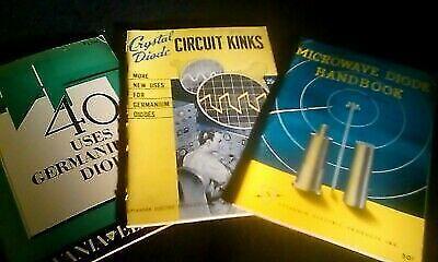 Three Vintage Sylvania Diode Handbooks 1950-1957