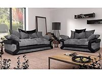 Lovely set of comfy sofas free pouffe