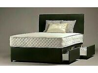 🔵💖🔴BRAND NEW🔵💖🔴SINGLE , DOUBLE, KING SIZE DIVAN BED BASE WITH SPRUNG MATTRESSES