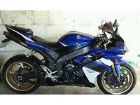 yamaha yzf r1 blue, recently serviced, works like a charm, alarmed, mot'd