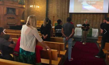 Church service in Stanmore - Newington college