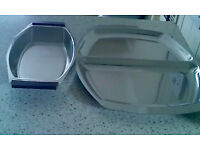 Reduced-2 items-Stainless steel Serving platter+dish