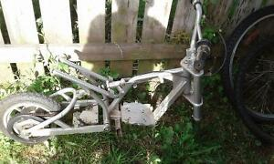 Starter mini bike aluminum frame