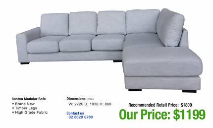 Sofa Sets and Corner Lounges - VARIOUS DESIGNS - 50/60% OFF RRP