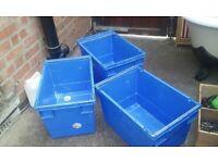 BLUE STACKER/NESTER INDUSTRIAL STRENGTH BOXES (Sherwood Nottingham NG5)