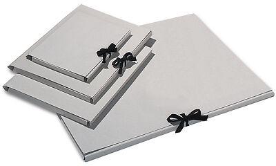 10 Folia Zeichnungsmappen Sammelmappen Graupappe DIN A4 mit Schleife