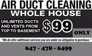 Duct Cleaning | $99.99 | (647) 478-6499