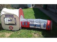 LONDON UNDERGROUND PLAY TENT AND TUNNELL