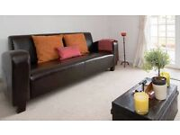 HABITAT LEATHER 3 SEATER SOFA FOR SALE