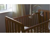 Mothercare Cot Bed & Spring Mattress