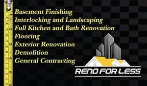 General Contracting, Basement Finishing, Kitchen & Bath Reno
