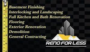 General Contracting, Basement Finishing, Bath Reno, Interlocking Cambridge Kitchener Area image 1