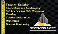 General Contracting, Basement Finishing, & Bath & Kitchen reno,