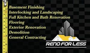 General Contracting, Basement Finishing,Bath reno, Interlocking Cambridge Kitchener Area image 1