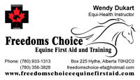 Freedoms Choice EFA now offering ADVANCED Equine First Aid