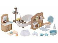 Sylvanian Families Country Bathroom Set - Bargain £10 (Boxed & Rarely played with)